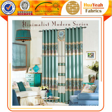 Ready-made polyester living room curtains blackout curtain fabric