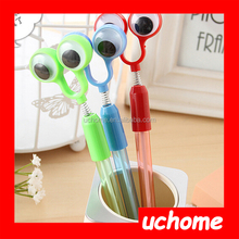 UCHOME Supply Frog Big Eye Hot Selling Plastic Pens ,Multi Color Cartoon Children Toy Hot Selling Plastic Pens