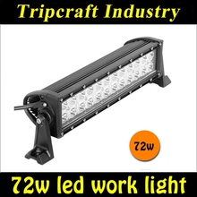 72W double rows straight Offroad led light bar 13.5inch Led driving light bar for 4wd SUV UTV truck offroad by Aluminum Housing