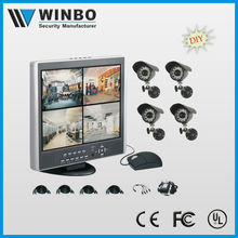 4CH DVR with built-in lcd monitor LCD Combo DVR security systems SAV-DH9804 + SAV-CW268