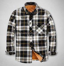wholesale flannel shirt thermal shirt plaid shirt