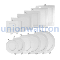led round & square panel square battery powered led panel light square 6w led round panel light