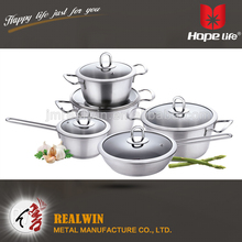 3 layered bottom with heat conduction professional stainless steel cookware