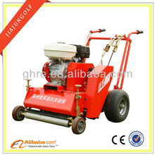 2012 lastest wholesale Red 9 horse-power golf course equipment greens grass-combing and root smashing machine
