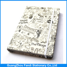 custom printed pu leather cover notebook with full logo printing