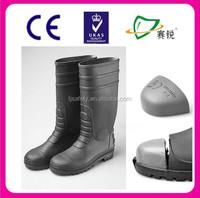 men' PVC gumboot /Cheap PVC work rain Boots factory