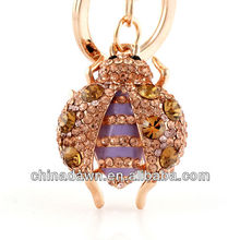 gift with brand handbag Jewelled ladybugs keychain CD-KD035