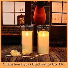 moving flame battery custom design branded led candles
