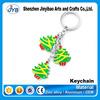 zinc alloy cheap custom christmas promotion keychain mini trees shape keyring