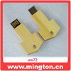 Wood usb memory stick key shape