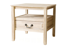 Wood short drawer end table sofa side table