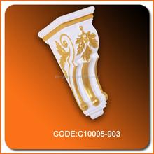 Decoración material de poliuretano alta densidad PU decoración ménsula de la PU precio de fábrica corbel