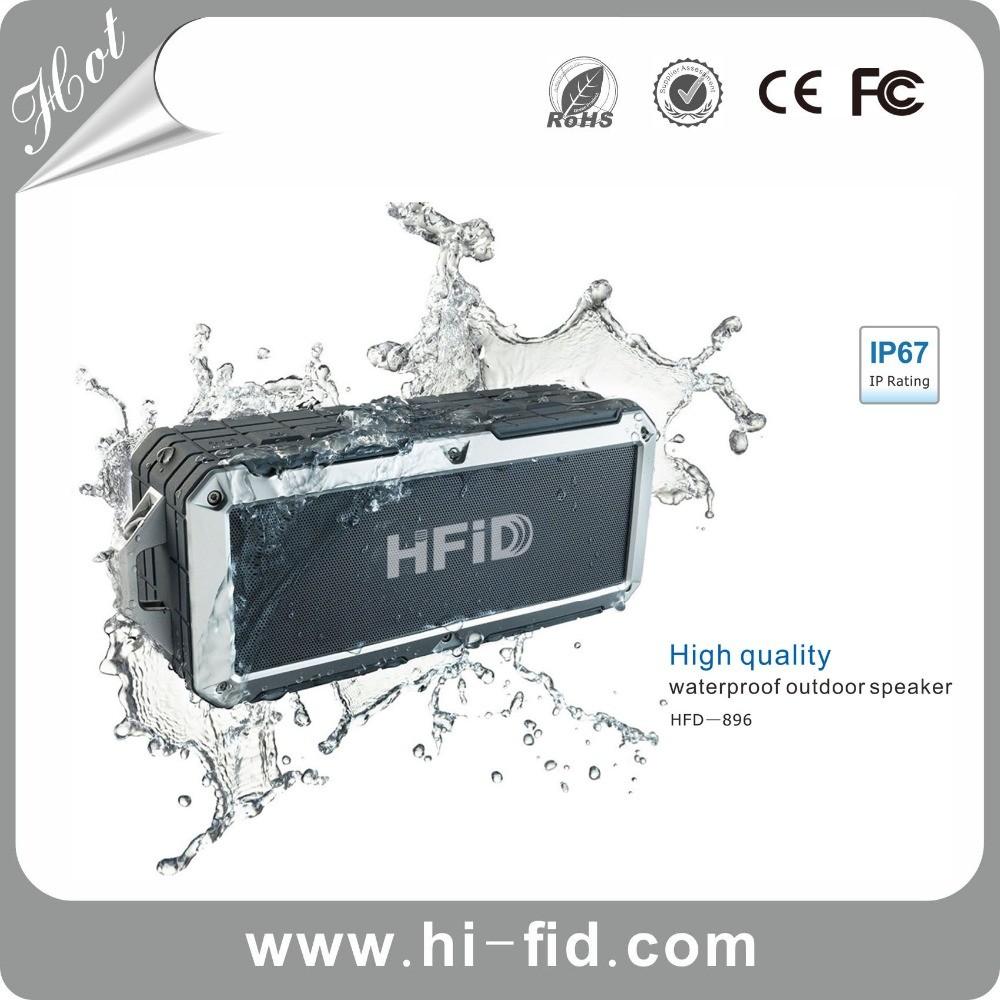 IP67 mini bluetooth al aire libre woofer altavoz impermeable apoyo nfc, Auricular hacia fuera, Llamada manos libres