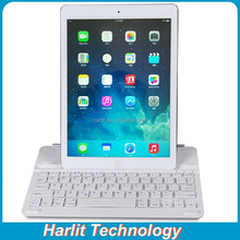 Customize Magnetic Aluminum Bluetooth Keyboard For iPad 4 With Retractable Stand, Magnetic Bluetooth Keyboard For iPad 4