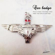 Crown&Lion Emblem,Zinc alloy metal 3D Bigwings Car Badge