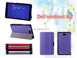 The silk pattern Slim three-Fold PU Leather Stand Case Cover For Dell Venue 8 Pro 32 GB Tablet (Windows 8.1)