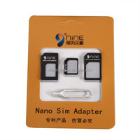 High Quality Universal 3 In 1 SIM Card Kits For Iphone Memory Card Adapter