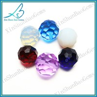 Colorful 12mm round glass bead