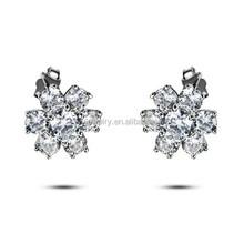silver big heart dangle earring, earring stand, 925 thailand silver earring