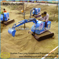 New Interesting Amusement Rides Sand Excavator Toy, Digger,kids ride on toy excavator for sale