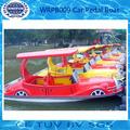 Coches en forma de bote de pedales de fibra de vidrio con dosel - WRPB009