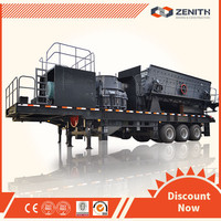 2014 hot sale professional tire type mobile jaw crusher station with ISO Approval
