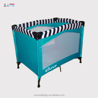 Fashion Design Folding Portable Baby Playpen with with bed safety rail Baby Travel Cot