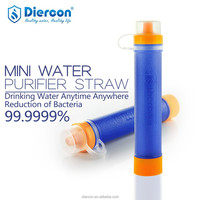Diercon new updated personal water purifier straw The Only straw that remove 99.9999% bacteria