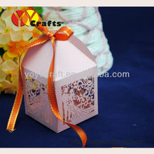 elegent Party and wedding decorations mini laser cut bride and groom sweet and favor gift boxes souvenir wedding cake box