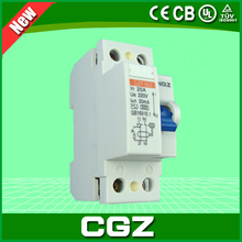 new 2P 4P 6kA rccb rcd rcbo CGZ Residual current circuit breaker with CE approval