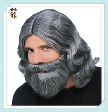 Jesus Wiseman Dress Up Halloween Biblical Synthetic Wig and Beard HPC-1283