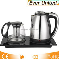 2015 hot sale electric tea kettle set/tea tray with grass jar