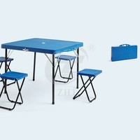 Outdoor Suitcase Plastic Folding Picnic Table