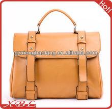 2013 European Fashion College Design Genuine leather lady handbags