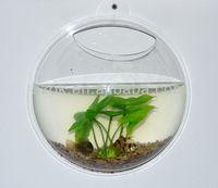 Small Acrylic Round Wall Mounted Aquarium Tank Fish Tank
