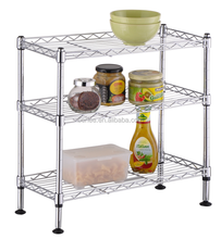 3 tier metal shelf , 3 tier metal rack ,chrome metal storage