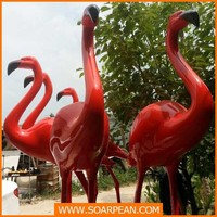 giant garden decor flamingo figurines,fiberglass flamingo statue