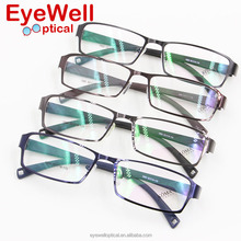 Most popular full rim alloy men optical frame with TR temple hot sale metal eyewear free shipping 1950