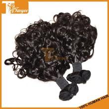 Top Grade 8A Funmi Hair Extension Color#1B Pure Brazilian Bouncy Curl Human Hair Weaving