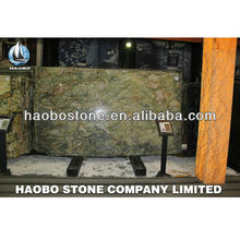 Haobo dark brown natural marble big slab with fine quality