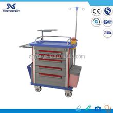 ABS emergency trolley cart, ambulance utility trolley