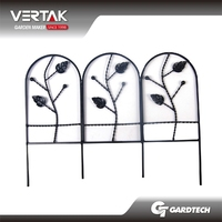 BVTUVSGS certified supplier Eco-friendly galvanized steel garden fence