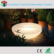 Garden pool use illuminated led half moom tables/half round table