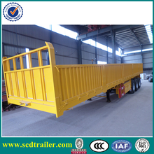 Sinotruck tri axle flat bed container and cargo Semi Trailer,Side wall Truck Trailer