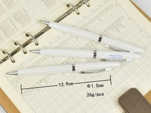Cheap hotel white metal ball pen with Gift metal boxes can be customized color