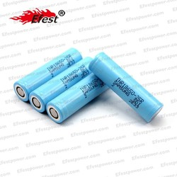 Original 3.7v 18650 2500mah li-ion battery inr-25r flat top battery
