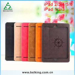 Tablet Retro Hand Strap Leather Case for ipad mini 1/2/3 flip leather case