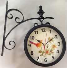 outdoor double-face clock
