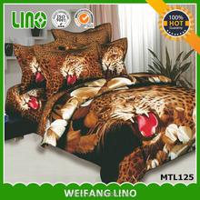 3D printing modern knitted plush fancy bedspreads/tie dye cotton printed bedspreads/animal print bedspread