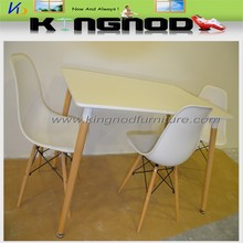 high quality modern MDF wooden bases disassemble dining table